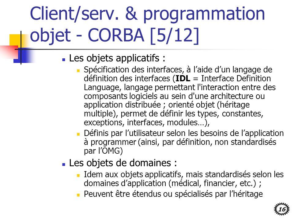 Client/serv. & programmation objet - CORBA [5/12]